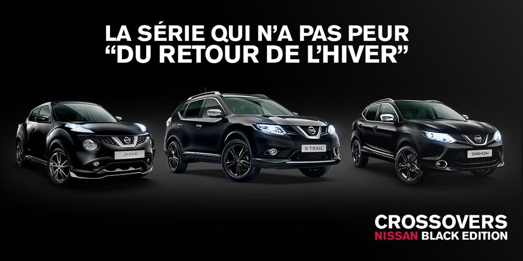 les crossovers nissan arrivent en s rie limit e black. Black Bedroom Furniture Sets. Home Design Ideas